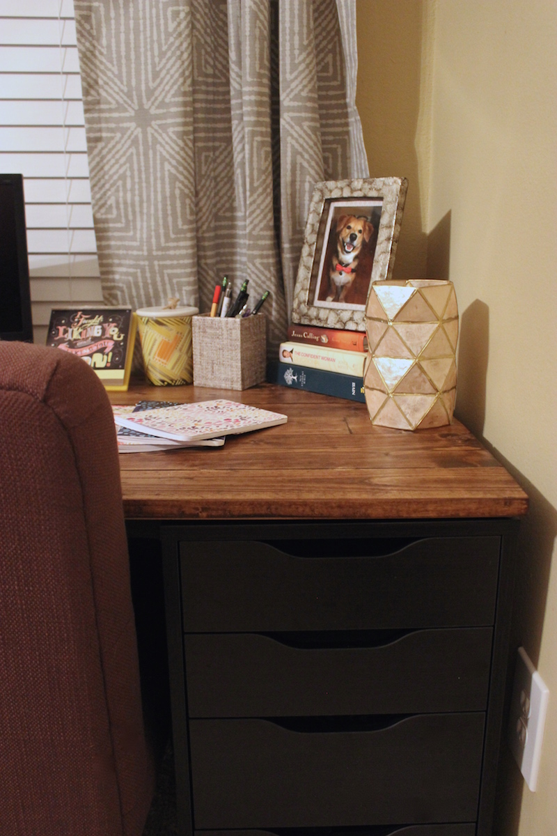 My Diy Ikea Desk Just Peachy Blog