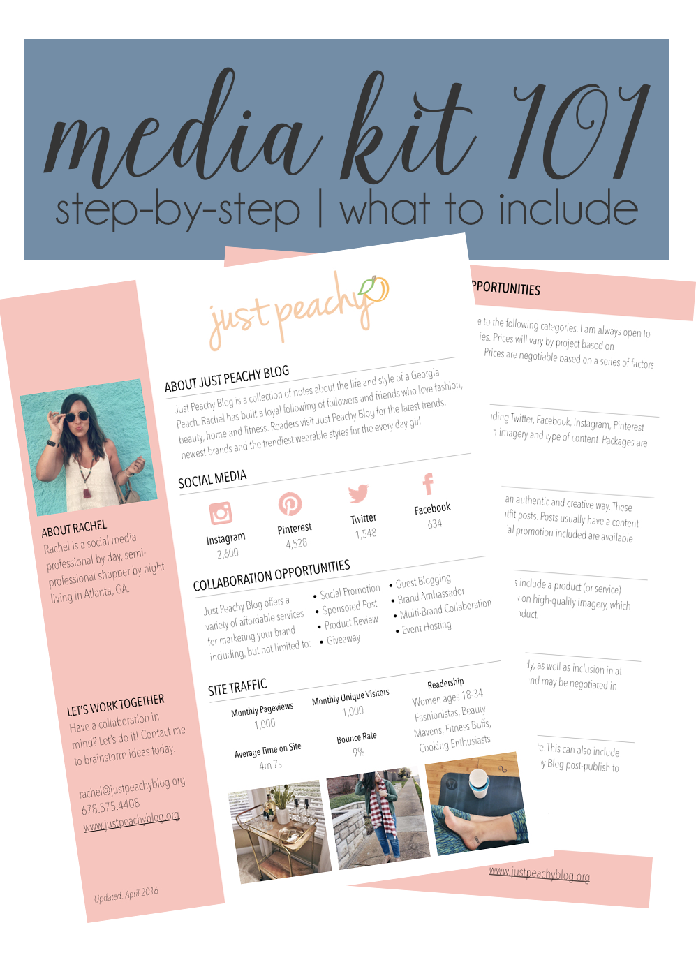 advertising media kit template - blog tips media kit just peachy blog