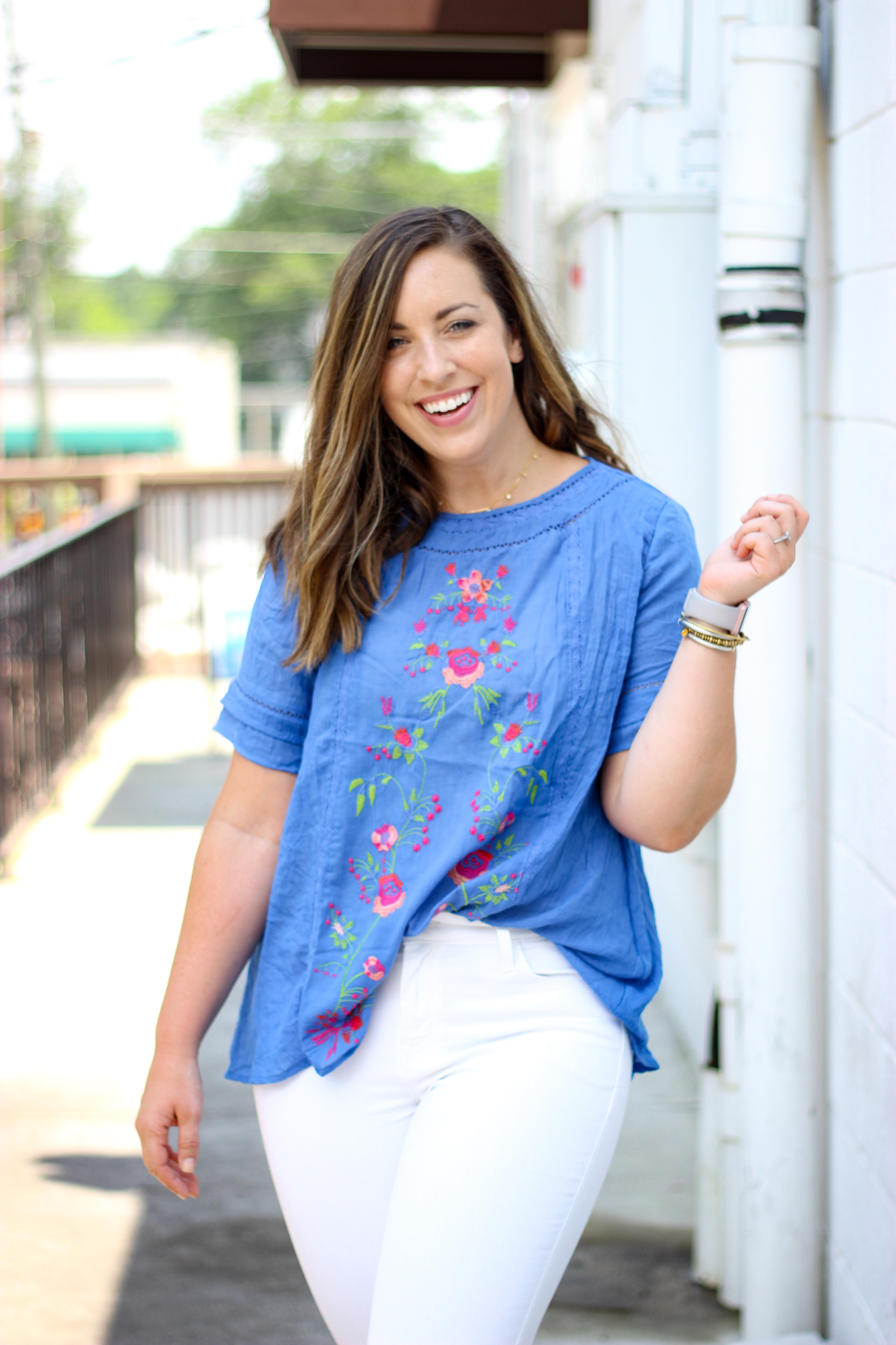 Embroidered Summer Top   Just Peachy Blog